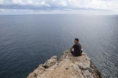 Cap de Barbaria, Formentera (Carlitos) Tags: espaa man spain europa europe jorge formentera hombre balearicislands islasbaleares capdebarbaria lllesbalears vision:mountain=0921 vision:sky=077 vision:outdoor=0988 vision:ocean=0795 vision:clouds=0718
