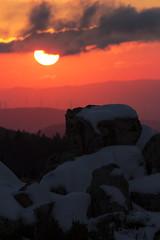 Limbara (marsec) Tags: sunset italy sun tramonto sardinia monte sole bosco tempiopausania limbara montelimbara