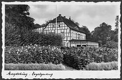 Altes Magdeburg vor 1945 (Helmut44) Tags: germany deutschland zoo magdeburg architektur historisch postkarten fachwerkhaus gaststätte vogelgesang altesmagdeburg