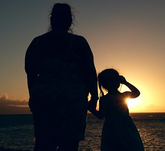 February 2013 Trip to Maui (pete4ducks) Tags: travel family sunset vacation sky water silhouette island hawaii emily dusk maui pacificocean cropped aviary kahana 2013 hololani hololanioceanfrontresort madymadelyn