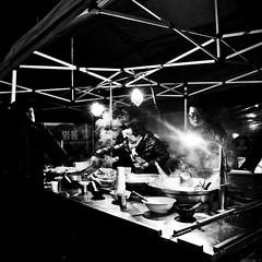 Seoul NYE 2014 (forayinto35mm) Tags: travel blackandwhite sony nye streetphotography korea southkorea streetfood reportage foodstand carlzeiss travelphotography sonyalpha sonya77 newyearseve2014 nye2014