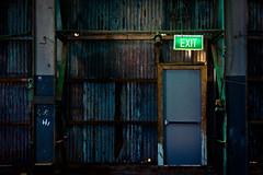 Cockatoo Island - Sydney (forayinto35mm) Tags: door travel abandoned oz sony sydney australia exit exitsign southernhemisphere cockatooisland carlzeiss travelphotography sonyalpha sonya77