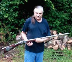 TED WILKS rifle maker-KY (Norris Sperry) Tags: vintage gun handmade lock percussion rifle barrel talent custom ml muzzleloader blackpowder hawken curlymaple barnfind nofingers gunlock catlettsburgky capbox hawkenrifle tedwilks