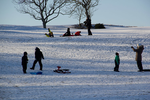 Sledding on Kullaberg