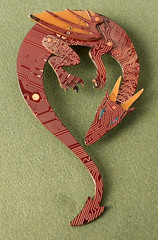redbroochdragn (the Blue Kraken) Tags: pin technology dragon contemporary brooch jewelry lizard fantasy winged circuit cyberpunk ecofriendly steampunk sustainableliving pcbs upcycled thebluekraken thebluekrakencircuitboard circuitboarddragon