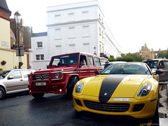 Modified (BenGPhotos) Tags: red black london sports car yellow race mercedes italian offroad ferrari german modified suv tuning rosso supercar v8 g55 typhoon spotting amg 2012 gtb combo v12 hamann tuned 599 848 fiorano novitec