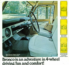1971 Ford Bronco 4X4 SUV Interior (coconv) Tags: pictures auto old classic cars ford car wheel vintage magazine ads advertising cards photo 1971 flyer automobile panel steering post 4x4 image photos antique interior postcard board ad picture images 71 advertisement vehicles photographs dash card photograph seats postcards instrument vehicle bronco dashboard autos collectible collectors suv brochure automobiles dealer insturment prestige dasboard