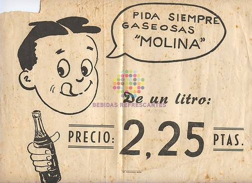 """Carbónicas Molina. """"Gaseosas"""". Años 50"""