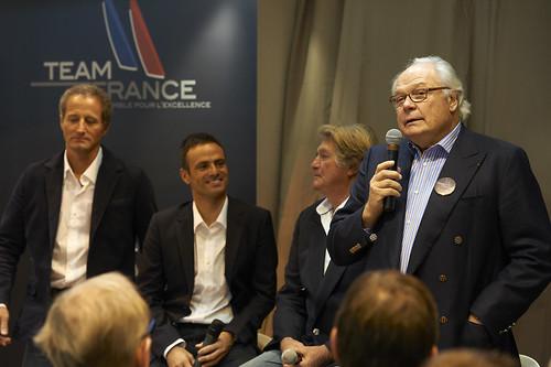 Michel Desjoyeaux, Franck Cammas, Olivier de Kersauson et Bruno Bich - © Yvan Zedda