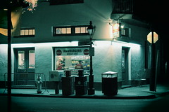 Clover Grill- Big Easy (mike_ystad) Tags: street city shadow urban streets classic night dark lights restaurant cafe noir shadows dusk neworleans diner minimal retro frenchquarter bourbonstreet atmospheric crescentcity bigeasy indulgent existential vision:text=0673 vision:outdoor=0622