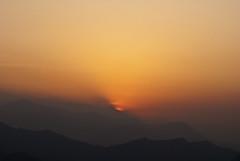 Burning Burst (William J H Leonard) Tags: morning nepal sky sun mist mountain snow mountains sunrise skyscape landscape haze day valley nepalese pokhara nepali gandakizone kaskidistrict pokharavalley westerndevelopmentregion