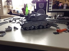 More progress on the Challenger 2 MBT (Retroshark) Tags: army war tank lego military mbt challenger moc uploaded:by=flickrmobile flickriosapp:filter=nofilter