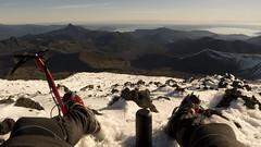 Mate en la cumbre del Casa Blanca (gatonaranjo) Tags: chile trekking casablanca mate osorno puyehue cumbre gopro