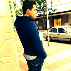 (ManontheStreet2day) Tags: boy hoodie crotch twink jeans teen bluejeans