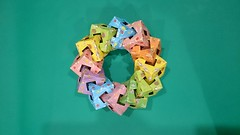 #origami #cube #chain #ring (Zusanna Woe) Tags: origami ring chain cube