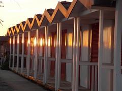 Cabine a Marina di Massa (Cri F) Tags: sunset sea summer sun tramonto mare estate massa toscana bagno spiaggia cabine marinadimassa