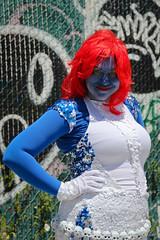 Blue Mermaid (slightheadache) Tags: ocean nyc newyorkcity sea summer newyork sexy beach festival brooklyn fun coneyisland photography seaside pirates sailors parade topless mermaids boardwalk