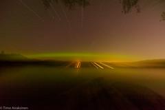 Exposure  and zoom playing with Aurora borealis. (Timo Airaksinen) Tags: espoo uusimaa finland fi