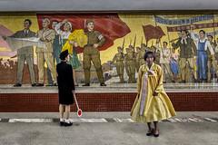 Kaesŏn Station (Kaobanga) Tags: coreadelnord coreadelnorte northkorea corea repúblicapopulardemocràticadecorea rpdc repúblicapopulardemocráticadecorea democraticpeoplesrepublicofkorea dprk 조선민주주의인민공화국 chosŏnminjujuŭiinminkonghwaguk pyongyang pionyang piŏngyang pyeongyang 평양시 metro subway kaesonstation kaeson 개선역 estaciódeltriomf estacióndeltriunfo chollimaline chollima mural mosaic mosaico canon5dmarkii canon5dmkii canon5dmk2 canon1635 1635 kaobanga