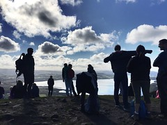 People at the top of conic hill (lewi1553) Tags: hillwalking hill walk walking scottish scenery view balmaha lochlomond conichill scotland people