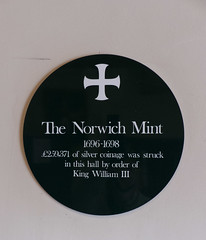 The Norwich Mint (bardwellpeter) Tags: norwich aanynorwich andrewshall fz200 octobers plaques standrewsqz zonemcentre