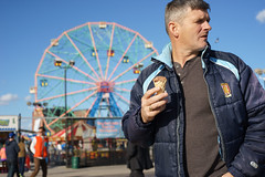Cone (dtanist) Tags: nyc newyork new york city newyorkcity sonya7 contax zeiss carlzeiss carl planar 45mm brooklyn coney island boardwalk denos wonder wheel park ice cream cone