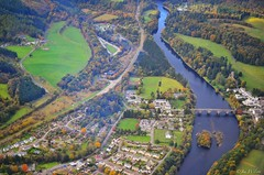 Autumn in Dunkeld from aloft. October 2016. (Jen_wilsonphotography) Tags: visitscotland rivertay microlight ev97eurostar aviation nikon scotland arielphotography autumn dunkeld