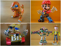 Arte com Latinhas de Alumnio / Cans Art (irecyclart) Tags: aluminium cans recycled recycledart sculpture