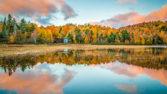 CP Cabin-160945-HDR.jpg (HVargas) Tags: vegetation autumn leafcolor connery pond lighting ponds nature reflection outdoor cabin lake placid temperate weather scenic otoño connerypond lakeplacid otoã±o newyork unitedstates us sunrise