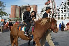 Pony Ride (dtanist) Tags: nyc newyork new york city newyorkcity sonya7 contax zeiss carlzeiss carl planar 45mm brooklyn coney island cyclone pony horse ride riding luna park children kid kids