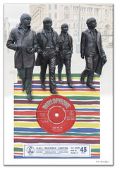 The Beatles - Love Me Do - Red Label original 1962 (Roland Bogush) Tags: beatles parlophone red label beachstripe redlabel lovemedo psiloveyou liverpool beatlesstatue