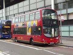 Go-Ahead London Central Volvo B7TL/Wright Eclipse Gemini LG02KHZ (WVL24) Midland Road London 15/10/16 (TheStanstedTrainspotter) Tags: london bus buses transport public publictransport goaheadgroup goahead goaheadlondoncentral londoncentral volvo b7tl volvob7tl wrightbus wrighteclipsegemini gemini lg02khz wvl24 stpancras stpancrasinternational 45 claphampark midlandroad unusual rare interesting