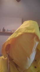 Yellow Enclosure 2 (ac_343) Tags: rainwear raincoat rainsuit raingear pvc shiny yellowdouble sensation enclosed breath