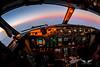 Sunset at Flight Level 360 (gc232) Tags: avgeek aviation pilotsview airline pilot cockpit live from flight deck golfcharlie232 sunset boeing b737 b737ng b737700 b737800 b737900 737 737ng 737800 fly flying instruments fisheye tokina 1017mm canon 6d