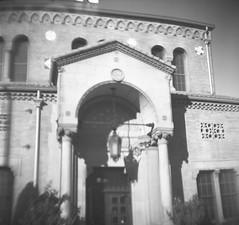 Union Station - Ogden, Utah (Shaun Nelson) Tags: 120film 620film blackwhite blackandwhite gsccamera girlscoutcamera iso100 kodak tmax tmax100 utfp utah ut utahfilmphotography utahfilmphotographycom ogden