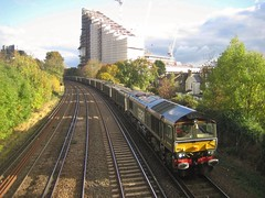 66779 mountfieldsidings 4y19 emptygypsum britishgypsum eveningstar gbrailfreight lewishamdiverts