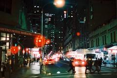 Sydney (goodfella2459) Tags: nikon f4 af nikkor 50mm f14d lens cinestill 800t 35mm c41 film analog colour sydney streets night lights traffic milf