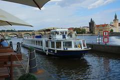 Charles Bridge and river Vltava and the lock in Prague (Karel1999 Over a Million views ,many thanks) Tags: vltava prague czechrepublic river