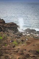 We are so small (blackhawk32) Tags: blowhole hawaii landscape maui nakalelepoint ocean sunset coastline waves