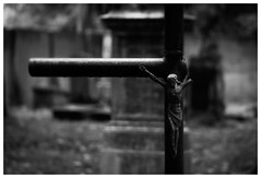 (Barbara.K) Tags: symbol religious crucifix cemetery canonrebelt1i canon500d canonefs55250mm depthoffield dof differentialfocus alienskinexposure monochromatic blackandwhite