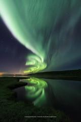 A Twist In The Tale (Kjartan Gumundur) Tags: iceland sland pond reflection auroraborealis northernlights norurljs nightphotography nocturne nordlys ngc zorzapolarna polarlict sky stars water canoneos5dmarkiv tokinaatx1628mmf28profx kjartangumundur