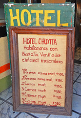 Hotel sign in Talpa, one of Mexico's Pueblos Magicos in the Pacific high sierras (albatz) Tags: sierramadre westcoast buildings talpa mexico pueblosmagicos pacific high sierra hotel sign jalisco town