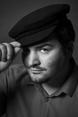 Self Portrait (Silviu Gheorghe) Tags: portrait bw studio light retouch hat male me indoor monochrome