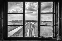 the world saddest window view (UE-Photography - urban exploration & travel) Tags: brzezinka woiwodschaft kleinpolen polen flickrtravelaward 5dmk3 adventure angst architektur arzt auschwitz bw bedrohung beklommenheit concentrationcamp creepy dark dertodisteinmeisterausdeutschland duester dunkel eos europa gefahr gefngnis holocaust konzentrationslager kz menschenverachtung oswiecim pogrom sw shoha stille tragedy travel uephotography birkenau owicim auschwitzii