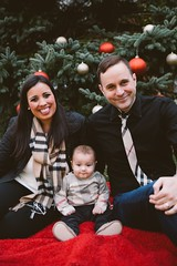 Toth Family (laurynandadam) Tags: photography photos pictures baby miki 6month photoshoot family smile happy ornaments christmas themed fire blanket canon