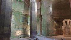 DSCF0042 glise monolithe d'Aubeterre-sur-Dronne (Charente) (Thomas The Baguette) Tags: aubeterresurdronne charente france monolith cave church tympanum glise glisenotredame saintjacques caminodesantiago sexyguy chateau cloister minimes mithra mithras cult