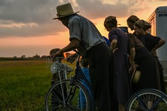 Amish Evening. (SaltyDogPhoto) Tags: amish amishcountry sunset family culture country countrylife gathering group people peoplephotography photography photooftheday capturedmoment evening sky color colorful amateur photographer lancaster lancasterpa lancastercounty nikon nikond7200 nikonphotography nikkor nikkor1680mmf284eedvr saltydogphoto