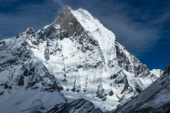 Machapuchare (6,993 m) from Annapurna Base Camp (Stewart Miller Photography) Tags: machapuchare annapurna nepal unclimbing mountain