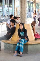 At Central Station (Verte Ruelle) Tags: myanmar yangon burma girl girls streetphotography voyeur voyeurism streetphoto people city women woman hot sexy beautiful sweet cute beauty lovely funny wife wives street citylife gorgeous legs dress happy