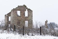 Still Standing (rosepuddle) Tags: winter snow fog building buildingskeleton stonework stonewalls wisconsin danecounty